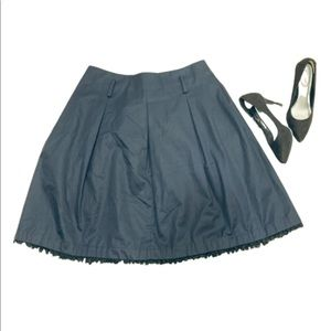 MIU MIU BOX PLEAT BLACK SKIRT